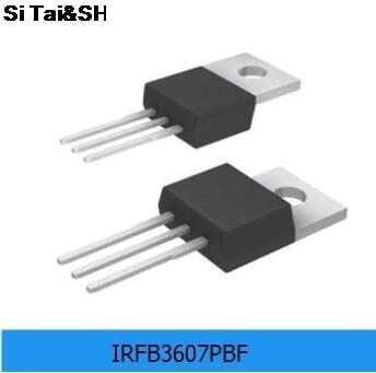 10 ADET Orijinal Orijinal IRFB3607PBF FET MOSFET n-kanal 75V 80A TO-220