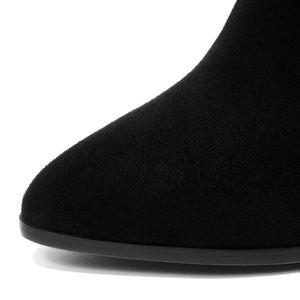 Image 3 - Taoffen kış yüksek topuklu ayakkabılar kadınlar diz çizmeler üzerinde yumuşak yüksek kaliteli botları sıcak kürk ofis ayakkabı kadın ayakkabısı boyutu 34 43