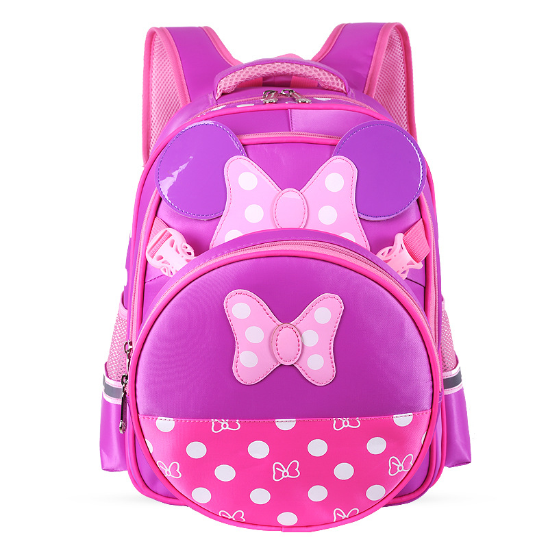 Girls' Lovely Cartoon Schoolbag Pupils Shoulder Bag Kids Multi-function Backpack Cute book pack Sweet Fashion Mochila Travel bag fggs 13 colors lovely girls wallet candy color kawaii cute cartoon animal multicolor silicone jelly coin bag purse kids gift