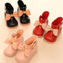 Размер 21-25, детские зимние ботинки, зимняя детская Нескользящая теплая хлопковая обувь с плюшевой подкладкой, модные детские ботильоны для мальчиков и девочек