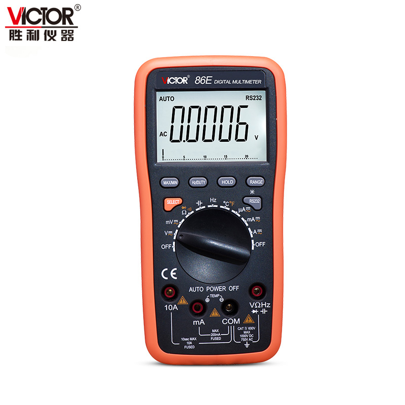 VICTOR VC86E 4 1/2 Digit Precision multimeter frequency capacitance temperature with USB cable upgrade VICTOR 86E victor victory multimeter vc86e 4 1 2 digit precision multimeter frequency capacitance temperature with usb