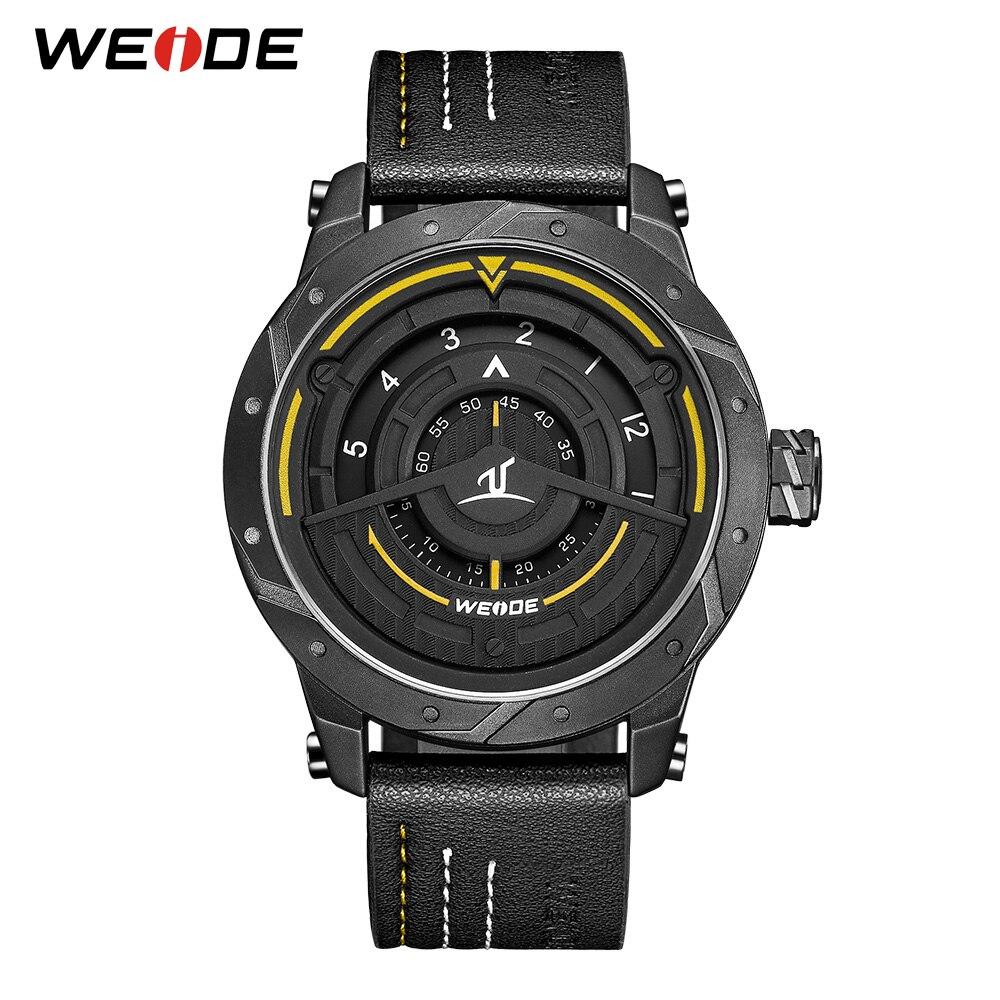 WEIDE Luxury Men's Sport Watch Leather Bracelet Strap Quartz Watch Relogio Masculino Waterproof Quartz Wristwatch drop ship 2018 цена 2017