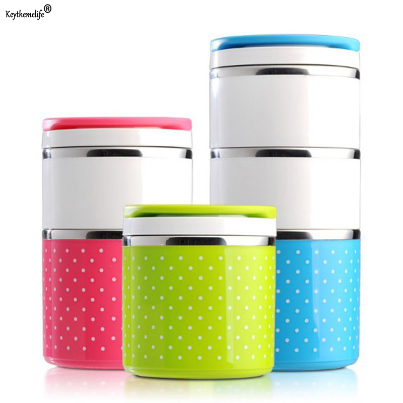 Portable Stainless Steel Lunch Boxes Bento Box Candy Color Thermos For Food Containers Lunch Box Dinnerware 1D Термос
