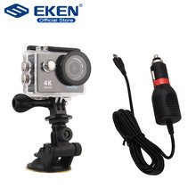 Suction cup bracket with Sports Camera Car Charger For SJ Go pro series Action Cam Caemera yi SJ4000 Hero 3+ 4 Mount Accessories(China)