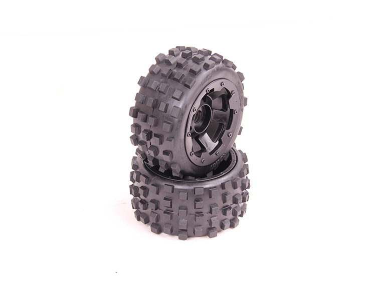 1/5 Scale RC KM RV HPI Baja 5B Buggy Knobby Rear Wheels &Tires (2) free shipping 1 5 rc km hpi baja off road race buggy cnc alloy rear wheel axle hub free shipping 85082