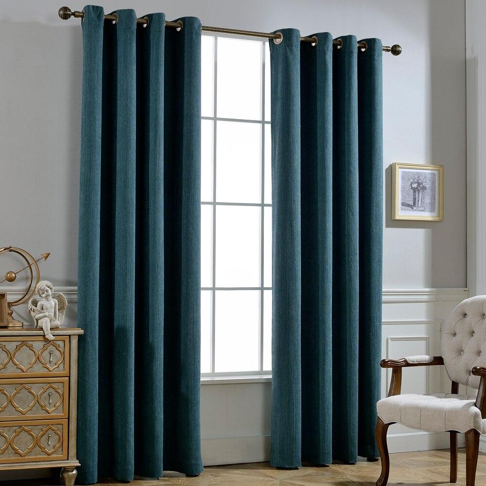 GIGIZAZA Rayon Cotton Black Out Stripe Tyg Gardin för Vardagsrum - Hemtextil