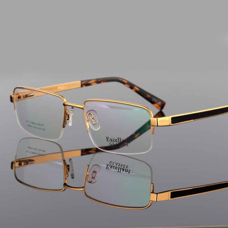 Men Business Reading Glasses Spring Leg Alloy Half Frames Optical Resin Lens Eyeglasses+1.0 +1.5 +2.0 +2.5 +3.0 +3.5+4.0 Eyewear