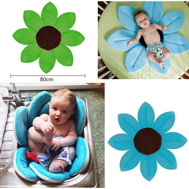 Bambino neonato vasca da bagno pieghevole fiore in fiore stuoia del bambino fioritura lavello - Vasca da bagno neonato ...