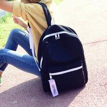 100% хлопок чистый цвет рюкзак опрятный стиль розовый Школьная сумка для девочек-подростков женщины контракт джокер дорожная сумка мешок отдыха