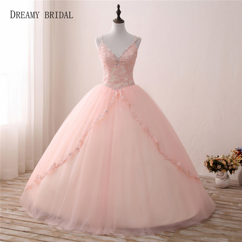 Weddings & Events Supply Angelsbridep Charming Champagne Ball Gown Quinceanera Dress 2019 Back V Beadings Spaghetti Strap Vestidos De 15 Party Dresses