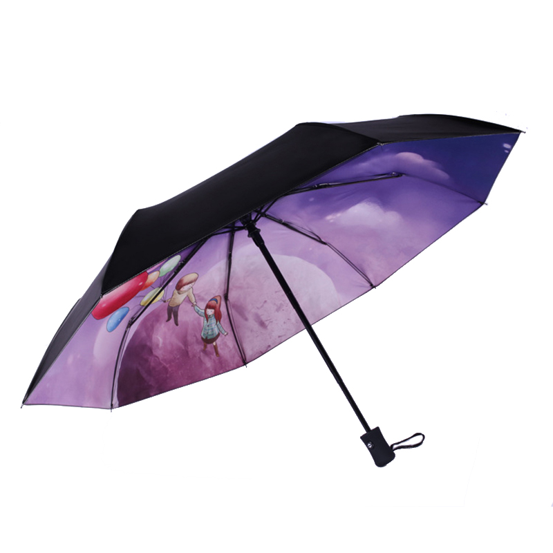 Sunscreen Black Female Parasol Womens Umbrellas Automatic Anti UV Umbrella Rain Women Folding Paraguas Plegable