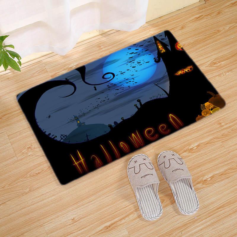 Halloween Series Crocodile Round Bathroom Carpets Living Room Doormat Kid Room Rugs Door Floor Chair Mat For Bedroom
