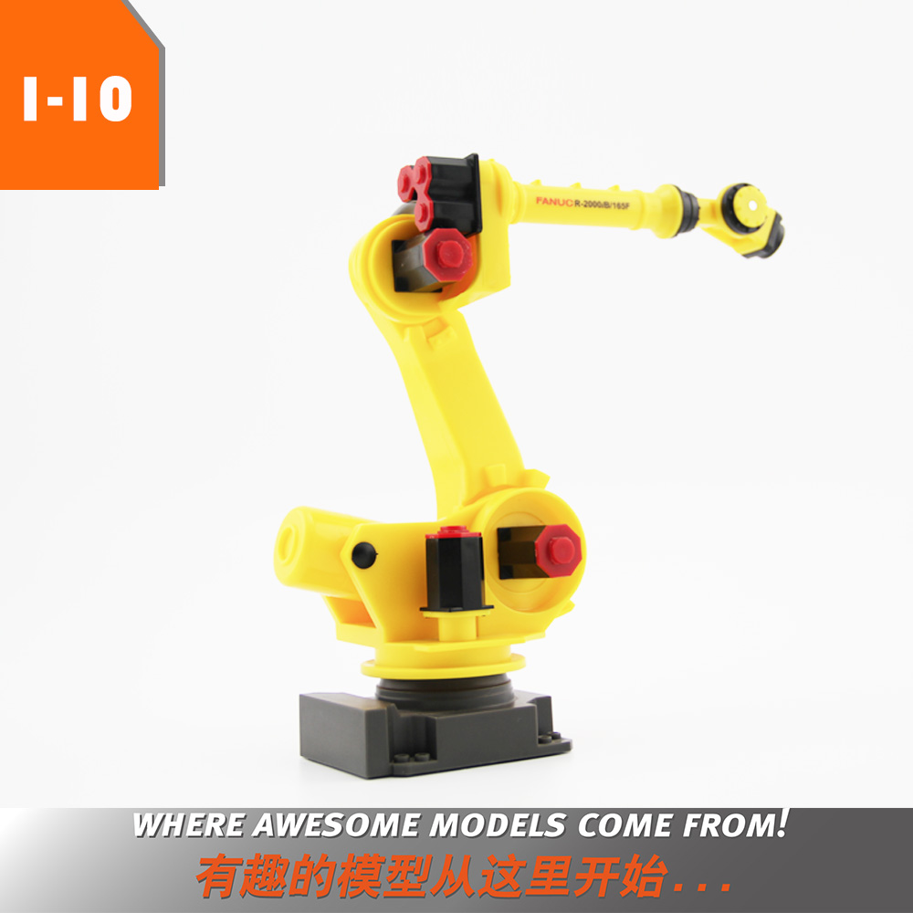 1:10 Scale 6-Axis 3D Robot Manipulator Arm Model Vertical Multiple-joint for Fanuc R-2000iC Robot Model for Gift or Education