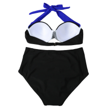 Sexy Bikini Set High Waist Bikini Set Women Swimwear Swimsuit Contrast Color Block Underwire Halter Bottom Beach Bathing Suit