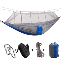 Portable Hammock Double Single Folded Person In Bag Mosquito Hamac Hook Hanging Bed For Camping Travel