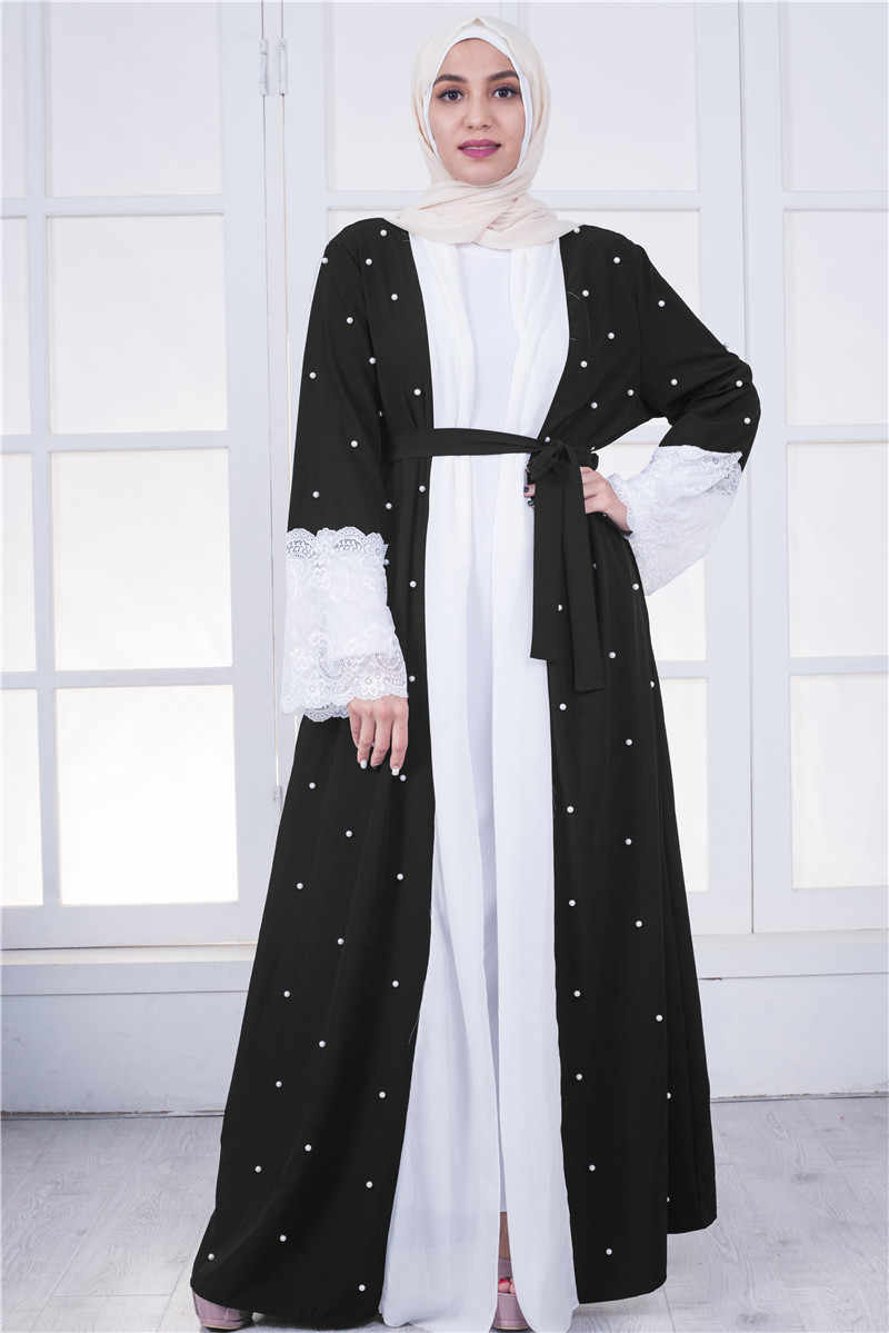 fda72a01a62b Detail Feedback Questions about Front open Muslim women long sleeve ...