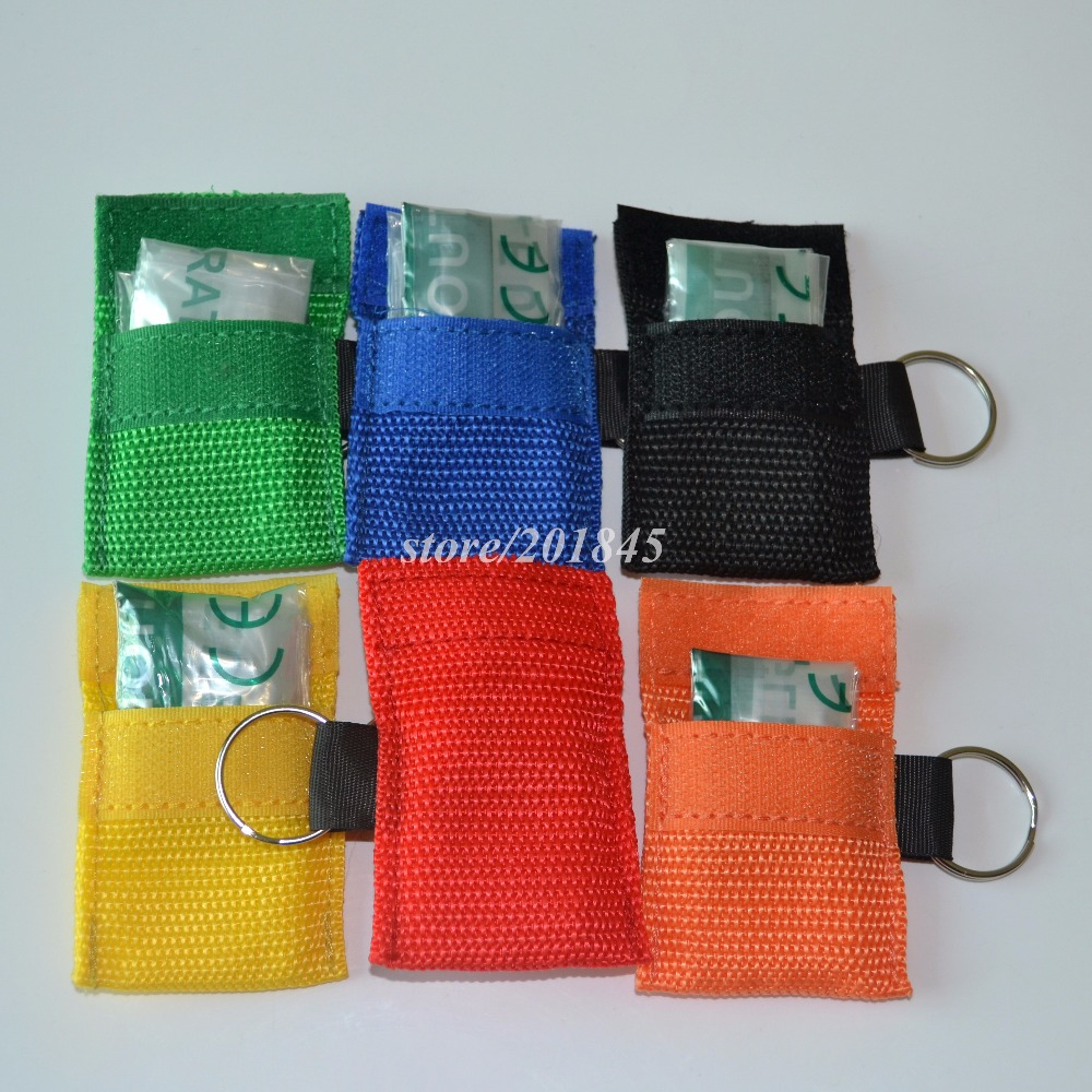 Image 5 - 100 PCS /lots NEW CPR MASK WITH KEYCHAIN CPR FACE SHIELD For Cpr/AED 6 COLORS-in Masks from Beauty & Health