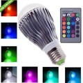 High Quality 15W RGB LED Bulb Light E27 B22 E14 GU10 GU5.3 Bulb AC85-265V Color Changeable RGB LED Lamp with Remote