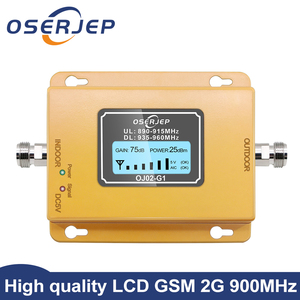 Image 1 - Gsm repeater 2g 3g band8 GSM 900MHz Amplifier 20Dbm lcd Mini Mobile Phone Signal Booster Repeater 900 cell Repetidor GSM 980