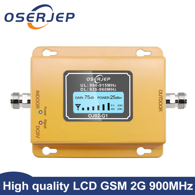 Gsm repeater 2g 3g band8 GSM 900MHz Amplifier 20Dbm lcd Mini Mobile Phone Signal Booster Repeater 900 cell Repetidor GSM 980