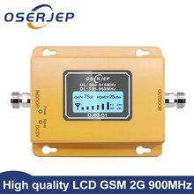 Gsm repetidor 2g 3g band8 gsm 900mhz amplificador 20dbm lcd mini repetidor de sinal do telefone móvel 900 celular repetidor gsm 980
