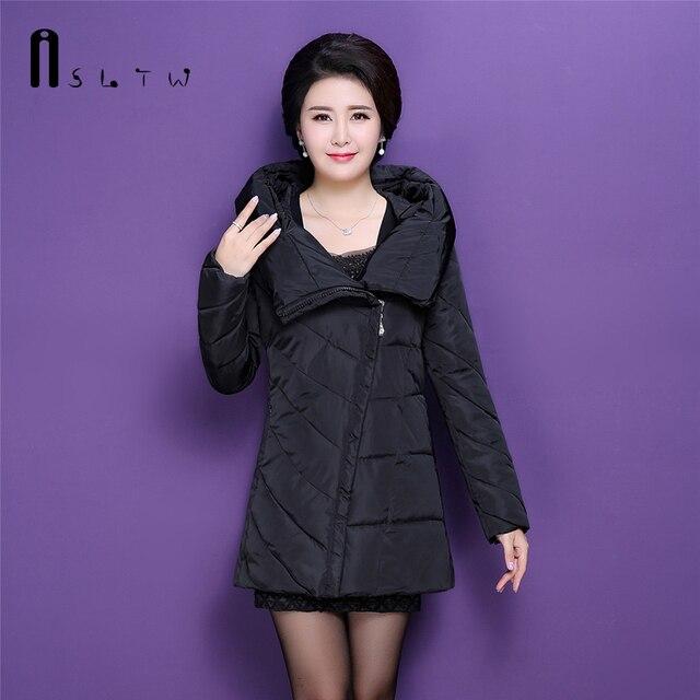Aliexpress.com : Buy L XXXL Winer Women Solid Cotton Coat Parka ...