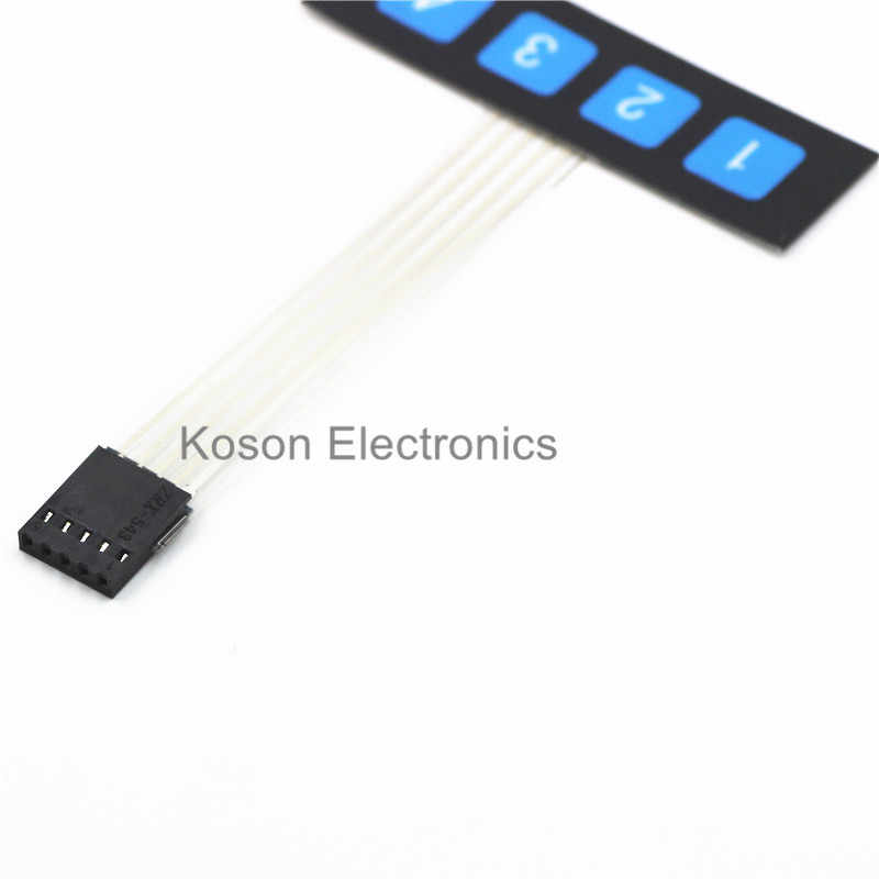 1 ряд 4 Ключ Мембранный переключатель/матрица клавиатура/тонкая пленка панель кнопочного управления один чип микрокомпьютер Расширенная клавиатура