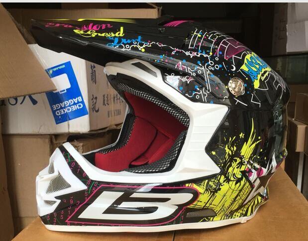 ФОТО Fashionable Professional Motocross Helmets Motorcycle Road Racing Helmet Off-road Motorcycle Protective Helmet High Quality DHL
