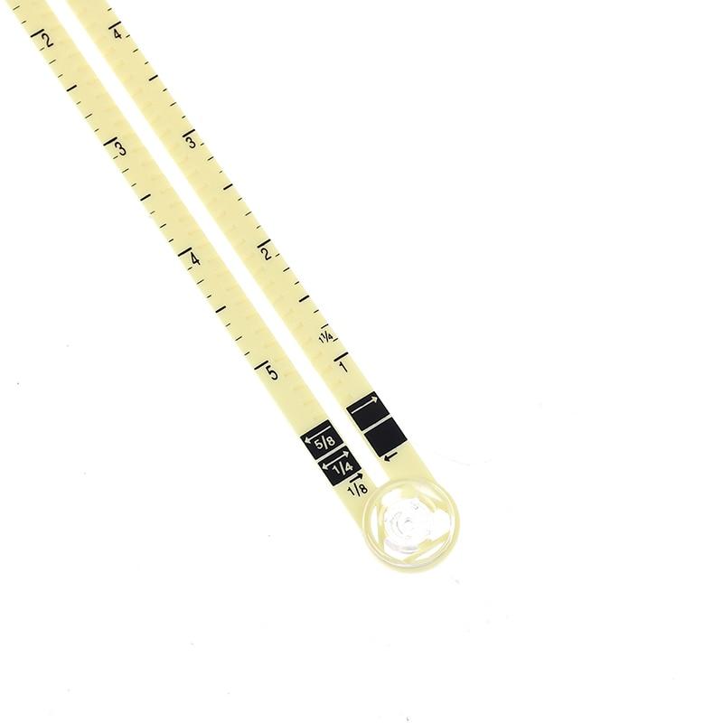 1 шт. 5 в 1 Многофункциональный раздвижные Калибр с измерения Швейные инструмент