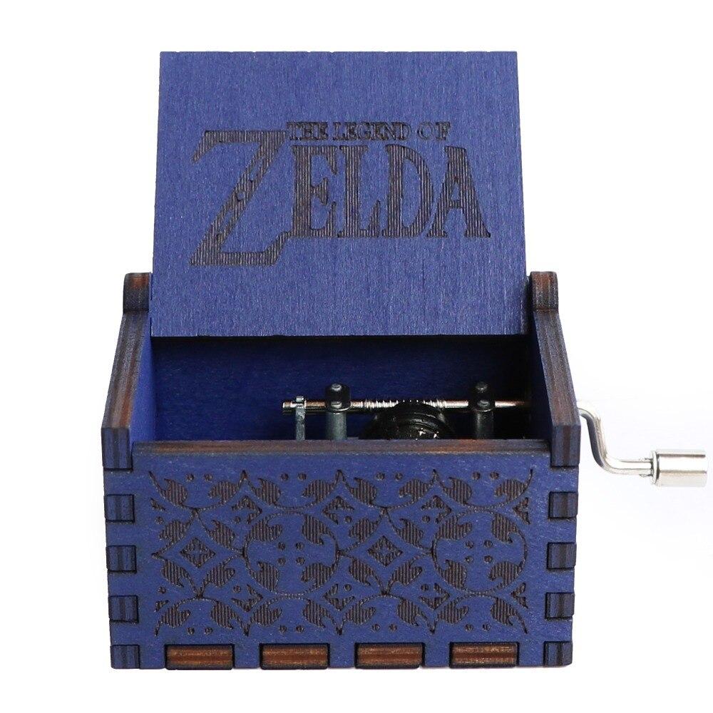 Прямая поставка, черная деревянная музыкальная шкатулка, игра в трон, Caja, музыкальная Zelda, ручная работа, Деревянная Музыкальная Коробка, рождественский подарок