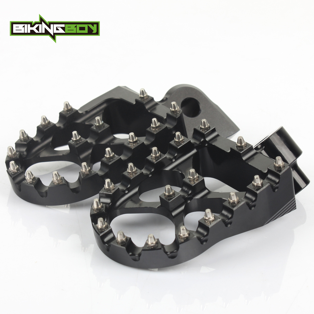 BIKINGBOY For Yamaha YZ 85 125 250 X YZF 250 450 250X WRF 250 450 01 02 03 04 05 Billet MX Offroad Foot Pegs Footrests Pedals