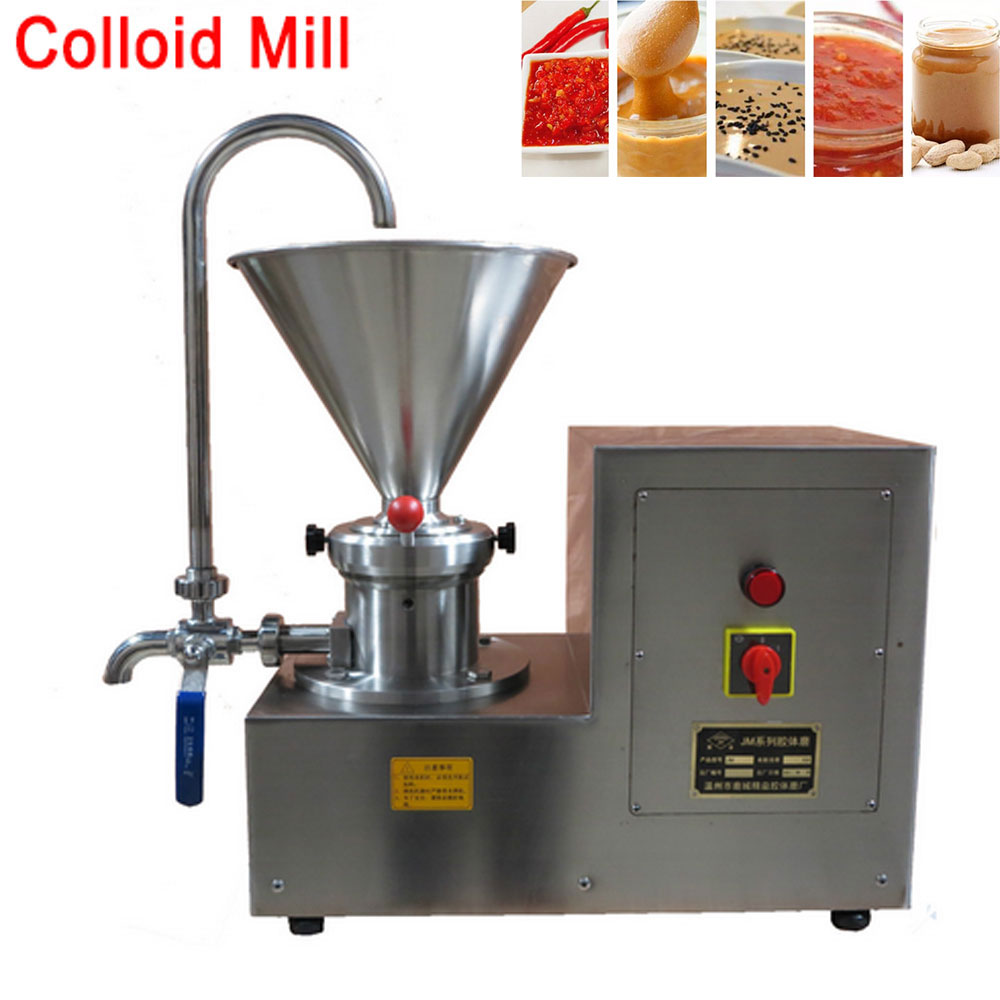 Commercial Colloid Mill Grinder, Chocolate Nut Butter Machine, Sesame Soybean Mill, Sauce Paste Maker Stainless steel 110V/220V food pharmaceutical industry stainless steel seeds peanut butter sesame paste chilli sauce colloid milling machine
