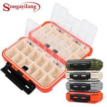 Sougayilang nowy przybył wędkarski Box przedziały 4Color ryba przynęta linia hak wędkarski Akcesoria wędkarskie pudełko tanie tanio Ocean Skały Fshing Fishing Box Tworzywo ABS Dark Gray White Orange Green Zhejiang Chiny (kontynent) 1pcs Fishing Box 165 x 95 x 45 mm