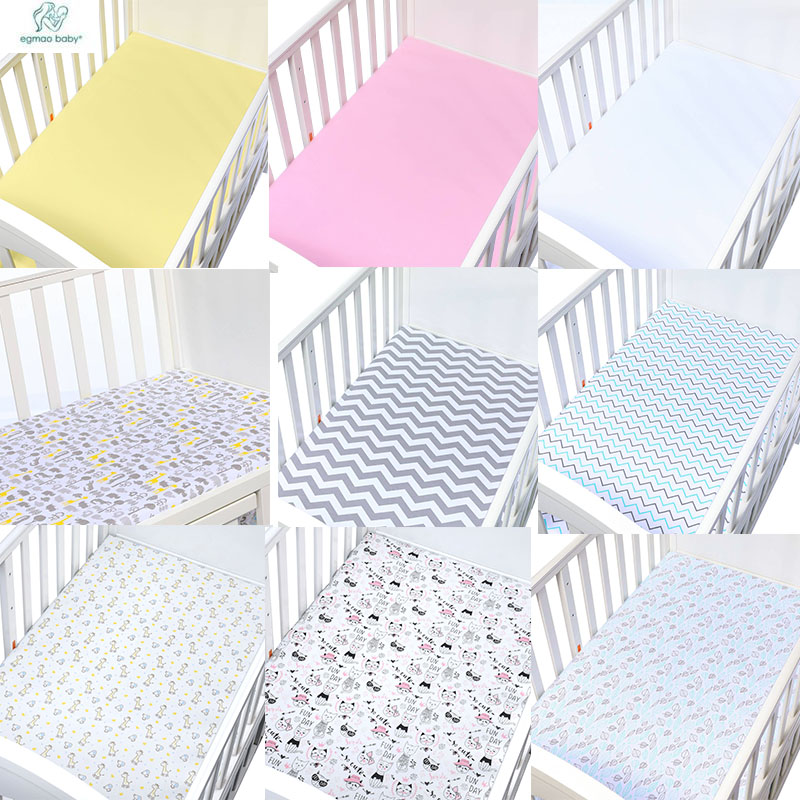 Newborn Baby Fitted Crib Sheet Comfort Knitting Cotton  Newborn Photography Props Neonato Baby Cot Size 130*70*CM