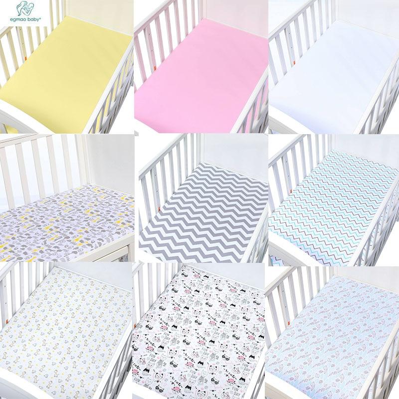 Newborn Baby Fitted Crib Sheet Comfort Knitting Cotton  Newborn Photography Props Neonato Baby Cot Size 130*70*CM