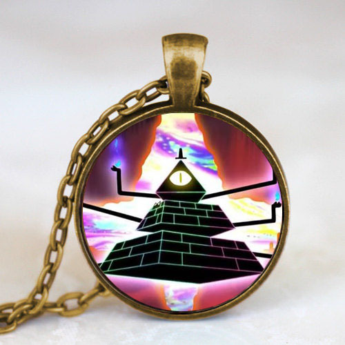 New Steampunk Drama Gravity Falls Mysteries BILL CIPHER WHEEL Pendant Necklace doctor who 1pcs/lot chain mens women 2017 cosplay