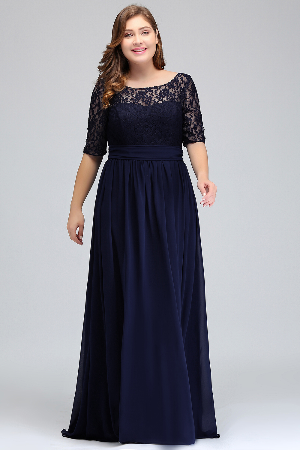 HTB1IT2zeLDH8KJjy1Xcq6ApdXXaTChiffon Lace Plus size Long Evening Dress