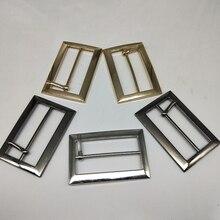 Metal Square belt buckles for shoes bag garment decoration 4 cm 3 colors Belt Buckles DIY Accessory Sewing 20 pcs/lot
