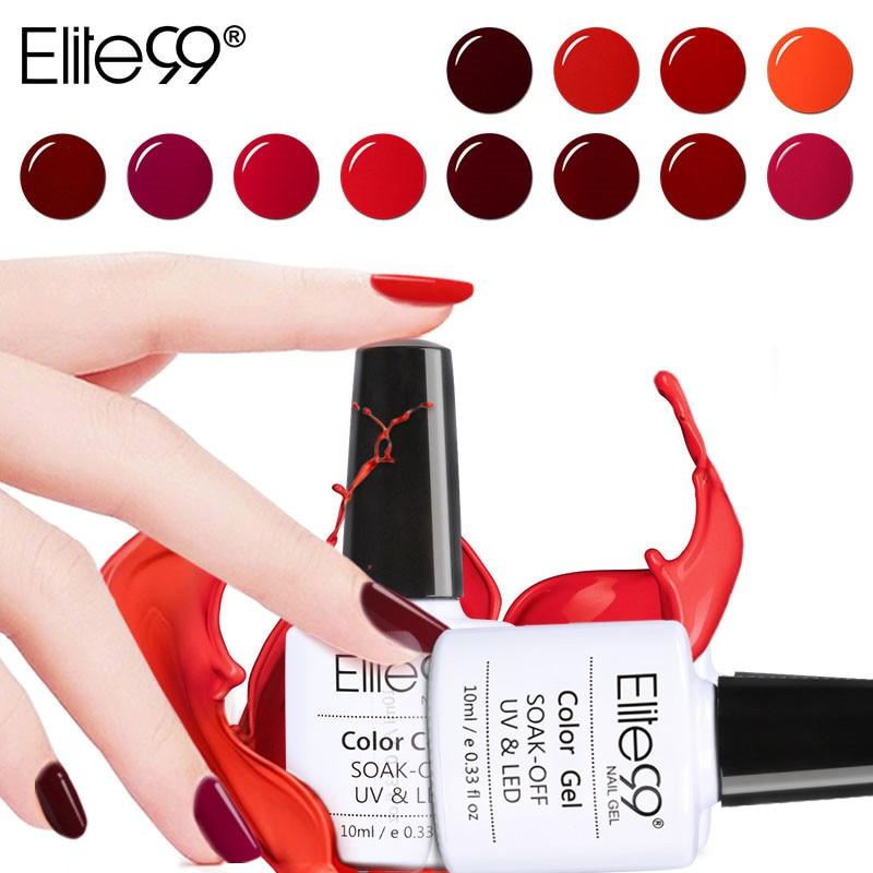 Elite99 Elite99 10 Ml Nagel Gel Polnisch Wein Rot Farbe Semi
