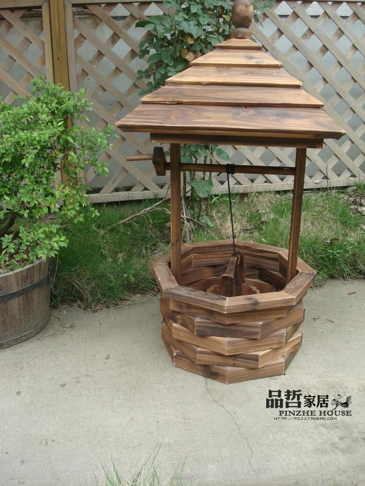 Garden ornaments wooden kitchen outdoor flowerpot basin - Maceteros madera exterior ...