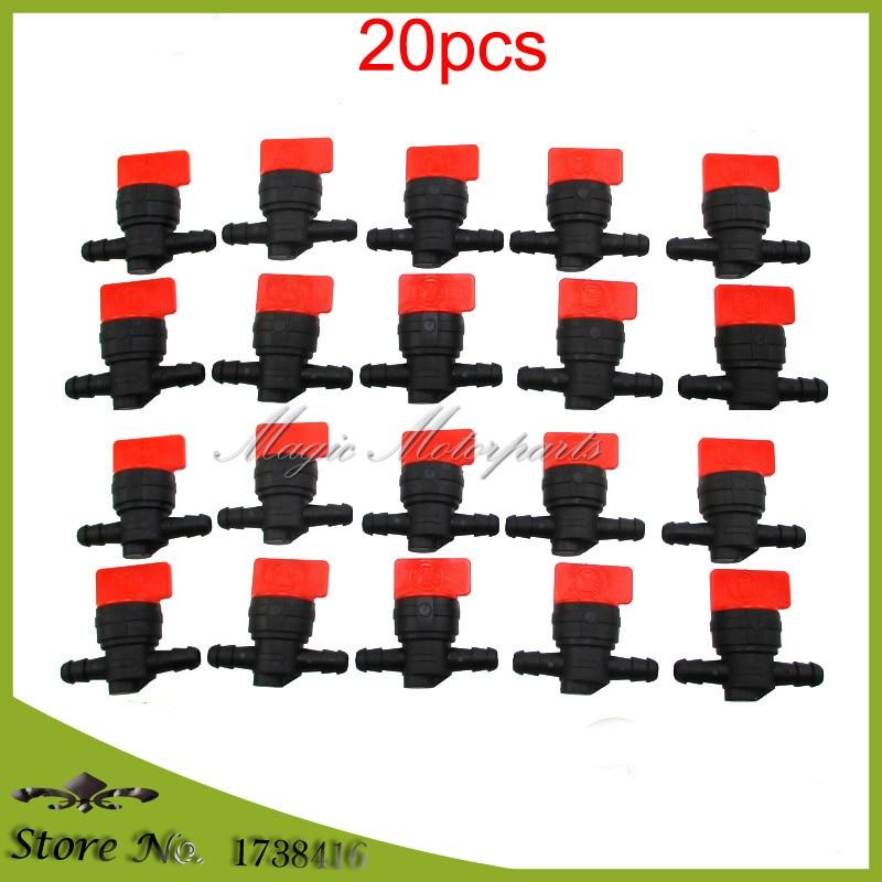 20pcs 8mm InLine Fuel Gas Cut Shut Off Valve Petock Fits 14 ID Fuel Line Suzuki Kawasaki For Briggs & Stratton 494768 698183