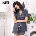 Hot sale summer modal soft fabric short sleeves shorts women pajamas sets high-quality sexy simple sleep lounge for women pyjama