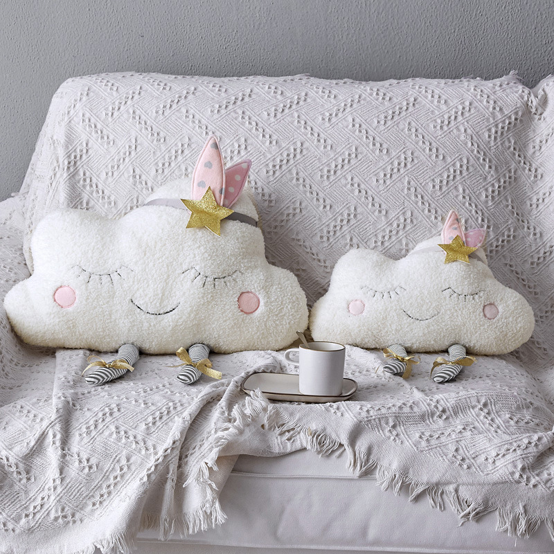 Cloud Baby Pillow Cushion For Children Plush Toys Newborn Room Decoration Kids Stuffed Toys Photography Props Girl Wall Stickers
