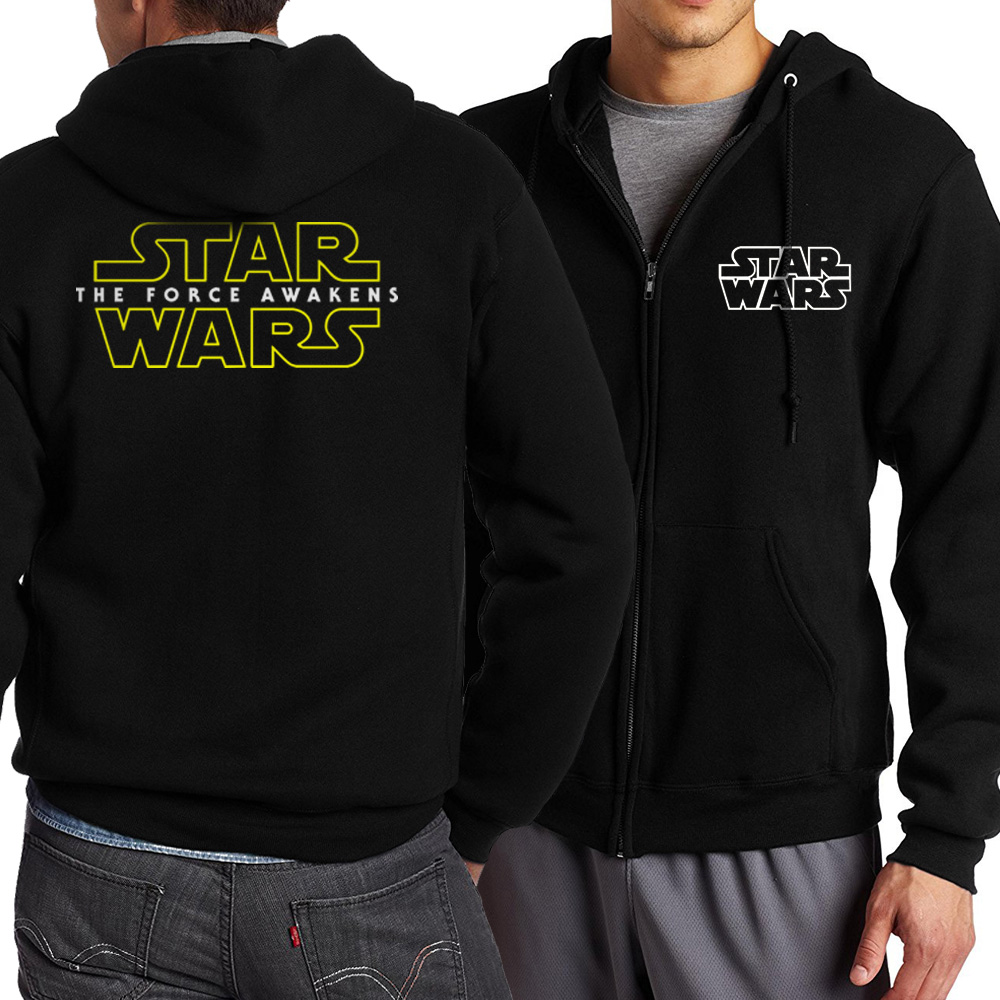Hot Star Wars Hoodie 2017 Spring Autumn Men Zippered Hoodies Jacekt Sweatshirt Ourwear Plus Size S-4XL