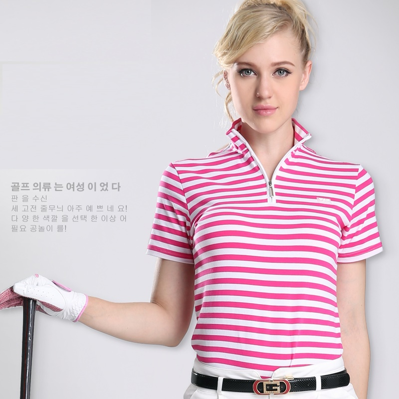 Striped Polo Shirts For Women