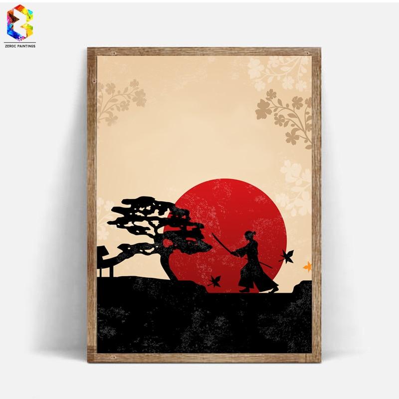 Affiche Dimpression Dart De Toile Dencre Japonaise Image De