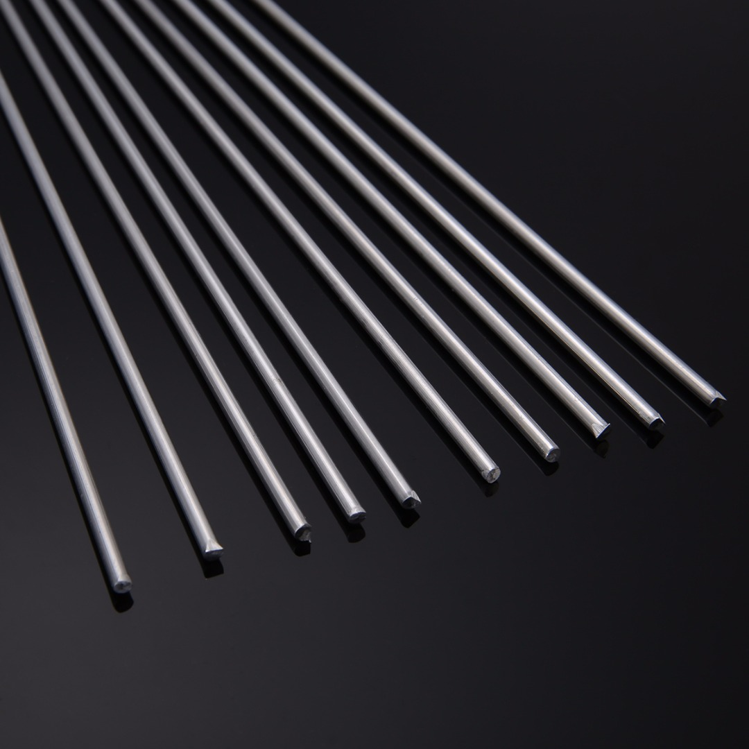10pcs Soldering Rods Welding Rods Aluminium Low Temperature Tig Welding Soldering Brazing Rods 3.2mm Diameter 330mm Length aluminum welding rods