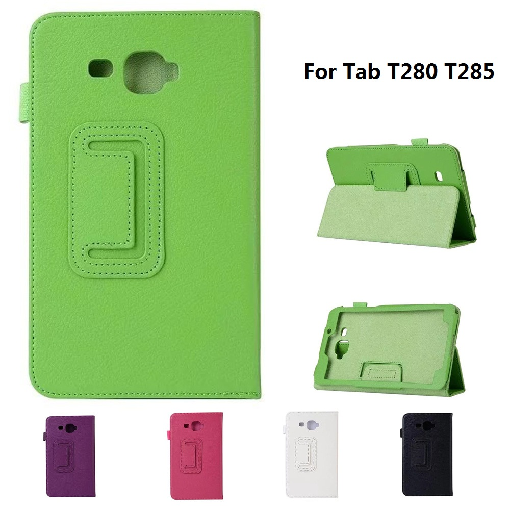 2 Section Foldable Litchi Pattern Protective Case For GALAXY Tab A 7.0 T280