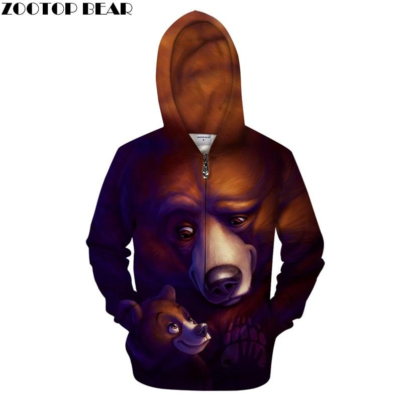 Crown 3D Zip Hoodie Men Zipper Hoody Groot Skull Sweatshirt Pullover Tracksuits Funny Coat Streatwear Hoodie DropShip ZOOTOPBEAR