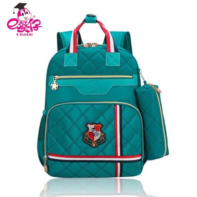 Ортопедия рюкзак модная одежда для девочек школьная сумка 2-5 Класс школьников сумки легкий Водонепроницаемый Рюкзаки Школьный